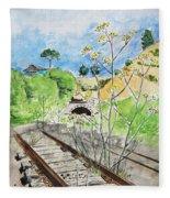 Forgotten Railway Fleece Blanket