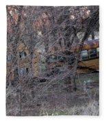 Forgotten Schoolbus Illinois Bend North Texas Fleece Blanket