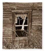 Forlorn Window Fleece Blanket