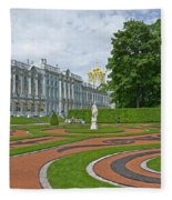 Formal Garden In Front Of The Palace Fleece Blanket