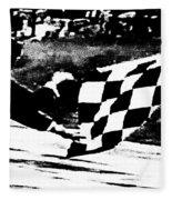 Formula 1 Vintage Checkered Flag Fleece Blanket