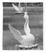 Forsyth Park Fountain - Black And White 3 2x3 Fleece Blanket