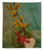 Forsythia Yellow Bells Fleece Blanket