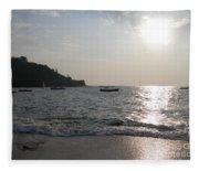 Fort Aguada Beach Fleece Blanket