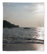 Fort Aguada Beach Fleece Blanket