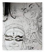 Cochin Graffiti Fleece Blanket