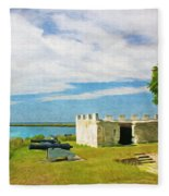 Fort Frederica Fleece Blanket