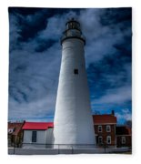 Fort Gratiot Lighthouse From The Water Side Fleece Blanket