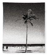 Fort Lauderdale Palm Tree Fleece Blanket