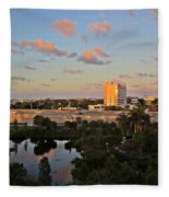 Fort Lauderdale Scene Fleece Blanket