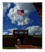 Fort Mchenry Main Gate Fleece Blanket