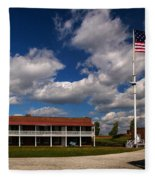 Fort Mchenry Parade Ground Barracks Fleece Blanket