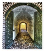 Fort Moultrie Door Fleece Blanket