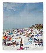 Fort Myers Beach Fleece Blanket