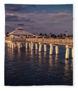 Fort Myers Beach Fishing Pier Fleece Blanket
