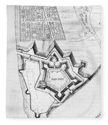 Fort Pitt, 1761 Fleece Blanket