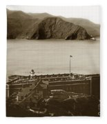 Fort Point And The Golden Gate San Francisco Circa 1890 Fleece Blanket