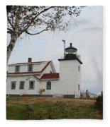 Fort Point Lighthouse 9239 Fleece Blanket