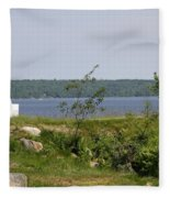 Fort Point State Park - Maine Fleece Blanket
