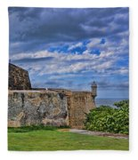 Fort San Felipe Del Morro  Fleece Blanket