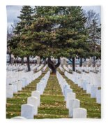 Fort Snelling National Cemetery Fleece Blanket