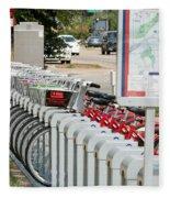 Fort Worth B Cycle 2 Fleece Blanket