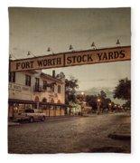 Fort Worth Stockyards Fleece Blanket