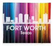 Fort Worth Tx 2 Fleece Blanket