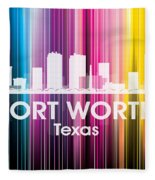 Fort Worth Tx 2 Fleece Blanket