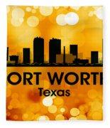 Fort Worth Tx 3 Fleece Blanket