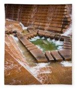 Fort Worth Water Gardens Fleece Blanket