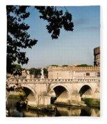Fortress And Bridge Fleece Blanket