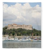 Fortress And Harbor - Cote D'azur Fleece Blanket