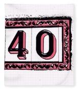Forty Pink And Black Fleece Blanket