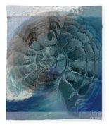 Fossil Ocean Fleece Blanket