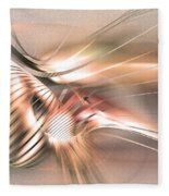 Found By Nile - Abstract Art Fleece Blanket by Sipo Liimatainen