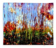 Water Fountain Abstract 3 Fleece Blanket