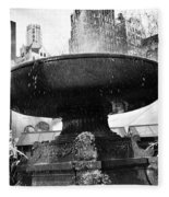 Fountain At Bryant Park Fleece Blanket