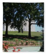 Fountain At Capitol Square  Fleece Blanket