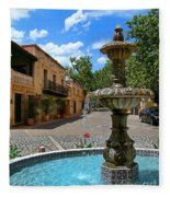 Fountain At Tlaquepaque Arts And Crafts Village Sedona Arizona Fleece Blanket