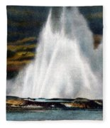 Fountain Geyser Yellowstone Np Fleece Blanket