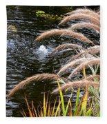Fountain Grass Fleece Blanket