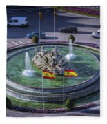 Fountain Of Cebeles II Fleece Blanket