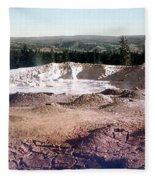 Fountain Paint Pot Yellowstone National Park Fleece Blanket
