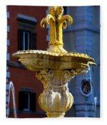 Fountain Piazza Farnese Fleece Blanket
