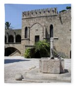 Fountain  - Rhodos City Fleece Blanket