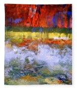 Fountain Splash Fleece Blanket