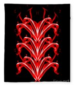 Fountains Of Fire Fleece Blanket