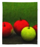 Four Apples Fleece Blanket