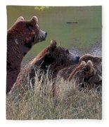Four Bears Fleece Blanket